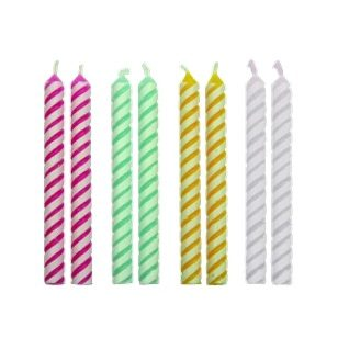 Medium 4 Striped Candles 59mm (24)