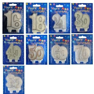 Number Candles Silver Or Gold