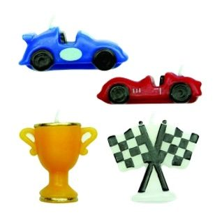 Racing Cars Candles 45mm 4pc