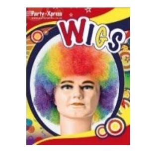 Wig Mid Afro Rainbow