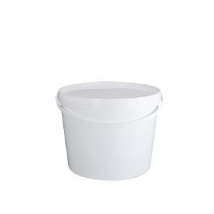 10L White Bucket & Lid