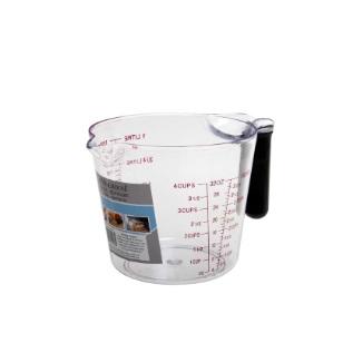 1L Measuring Jug Plastic Black Handle