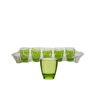 25ml Colours Shot Glasses Plastic Tray 10pc