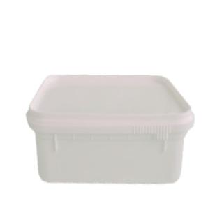500g White Rectangular Tub & Lid