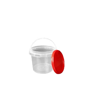500ml Clear Bucket & Red Lid