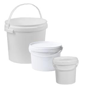 Alpha Pac White Buckets & Lids