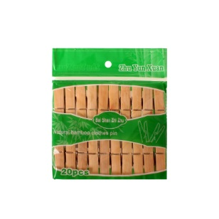 Bamboo Wooden Washing Pegs 20pc