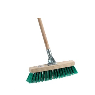 Broom Wooden Soft Bristle Deluxe