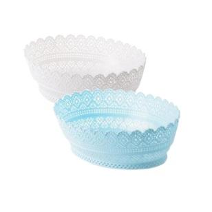 Plastic Basket Lace Oval 28x21x8cm