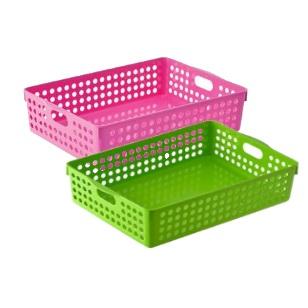 Plastic Basket Rectangular 32x22x8cm