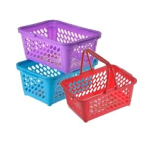 Plastic Basket With Handle 28x20x12cm
