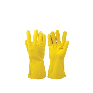 Yellow Household Gloves Latex