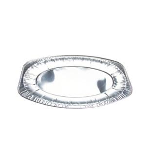 Alu Cater Oval Tray Silver CW014 [385x260x21]
