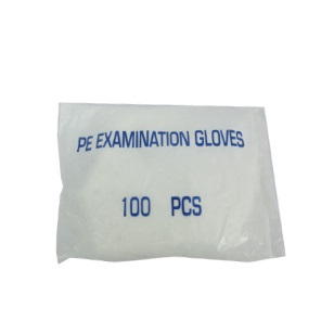Plastic PE Deli Gloves Clear Smooth 100pc