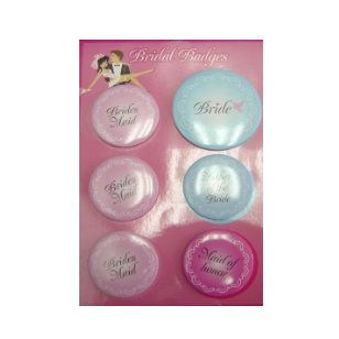 Badges 7cm Bride To Be 6pc