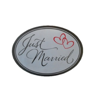 Car Magnet Just Married 30x21cm
