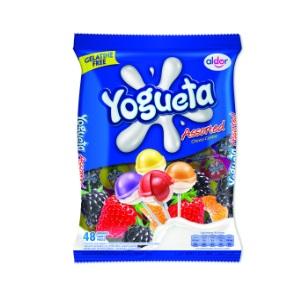 816g Aldor - Yogueta Lollipop Assorted 48pc