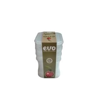 EVO - 150ml Snackbox Square 4pc - Clear