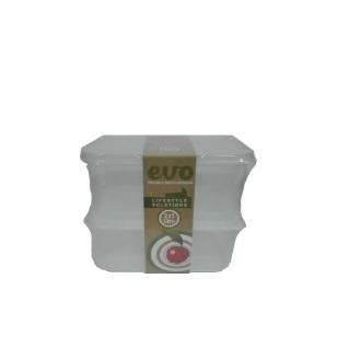 EVO - 1L Lunchbox 2pc - Clear
