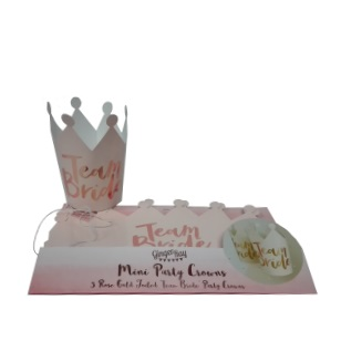 Team Bride - Mini Party Crowns 5pc