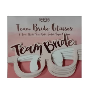 Team Bride - Paper Glasses 8pc