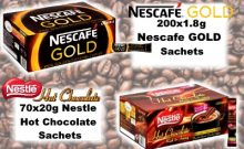 Nescafe Coffe and Nestle Hot Chocolate