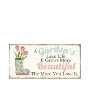 Metal Plaque 20x40cm - Garden Beautiful