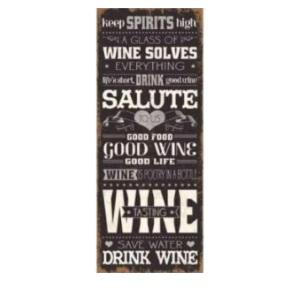 Metal Plaque 20x48cm - Wine Solves