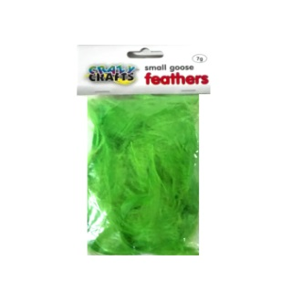 Small Goose Feathers 7g - Green