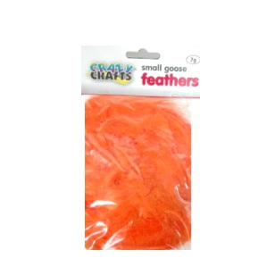 Small Goose Feathers 7g - Orange
