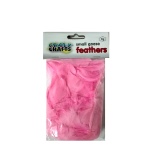 Small Goose Feathers 7g - Pink