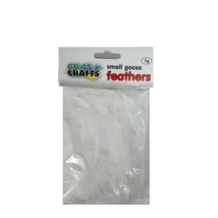 Small Goose Feathers 7g - White