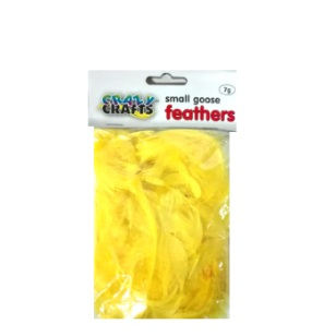 Small Goose Feathers 7g - Yellow