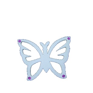 Pearl Cut-Out Butterfly With Gem Styro