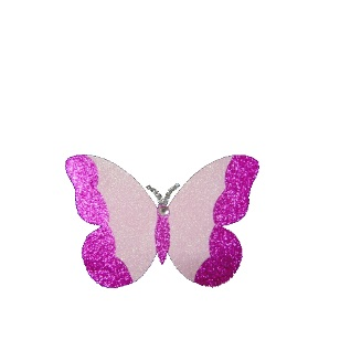 Pink Butterfly With Gem 25cm Styro