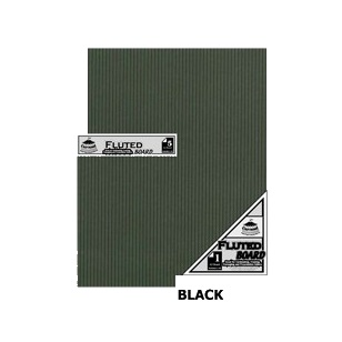 Black Fluted Board A4 [210x297mm] 5PC