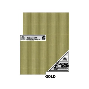 Gold A4 Fluted Board [210x297mm] 5PC