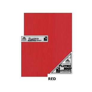 Red Fluted Board A4 [210x297mm] 5PC