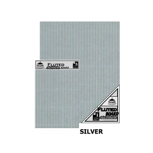 Silver A4 Fluted Board [210x297mm] 5PC