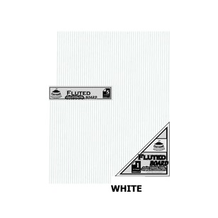 White Fluted Board A4 [210x297mm] 5PC