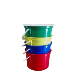 1L Red Bucket & White Lid