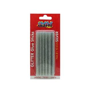 Glue Gun Sticks - Silver 10pc