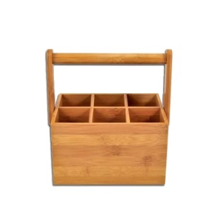 Bamboo Caddy - Handle 6-Div