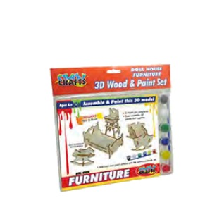 Craft Kit - Wooden Doll House Furniture