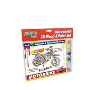 Craft Kit - Wooden Motorbike