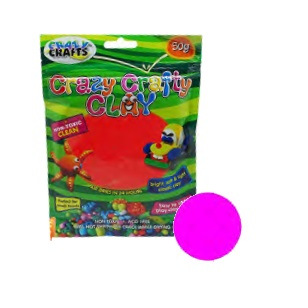 Crazy Crafty Clay 50g - Bright Pink