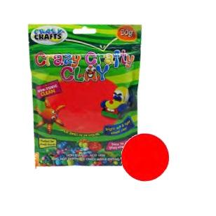 Crazy Crafty Clay 50g - Red