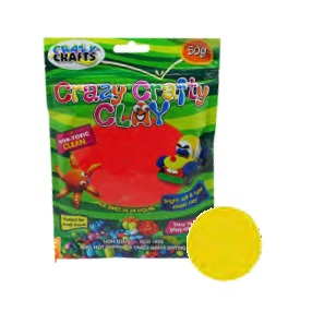 Crazy Crafty Clay 50g - Yellow