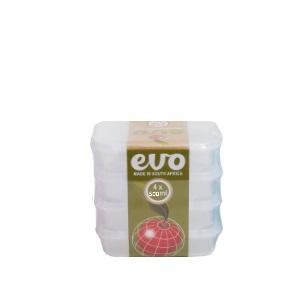EVO - 500ml Lunchbox 4pc - Clear