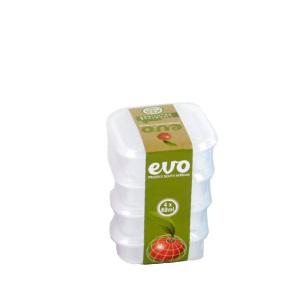 EVO - 80ml Snackbox Square 4Pc - Clear